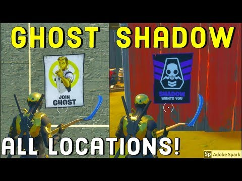 Deface Ghost Or Shadow Recruitment Posters All Locations! - Deadpool Challenges Week 6