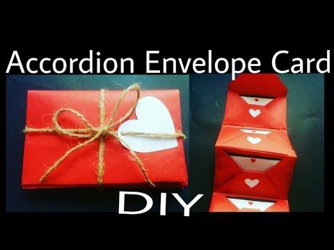 Accordion Envelope Card   DIY   Valentine's Day Special
