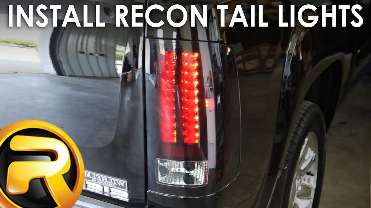 How To Install Recon Led Tail Lights Youtube