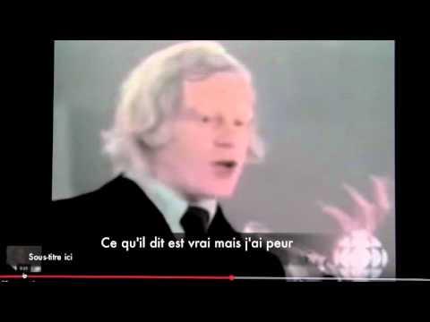 Meilleur discours de Pierre Bourgault et la peur de René Lévesque