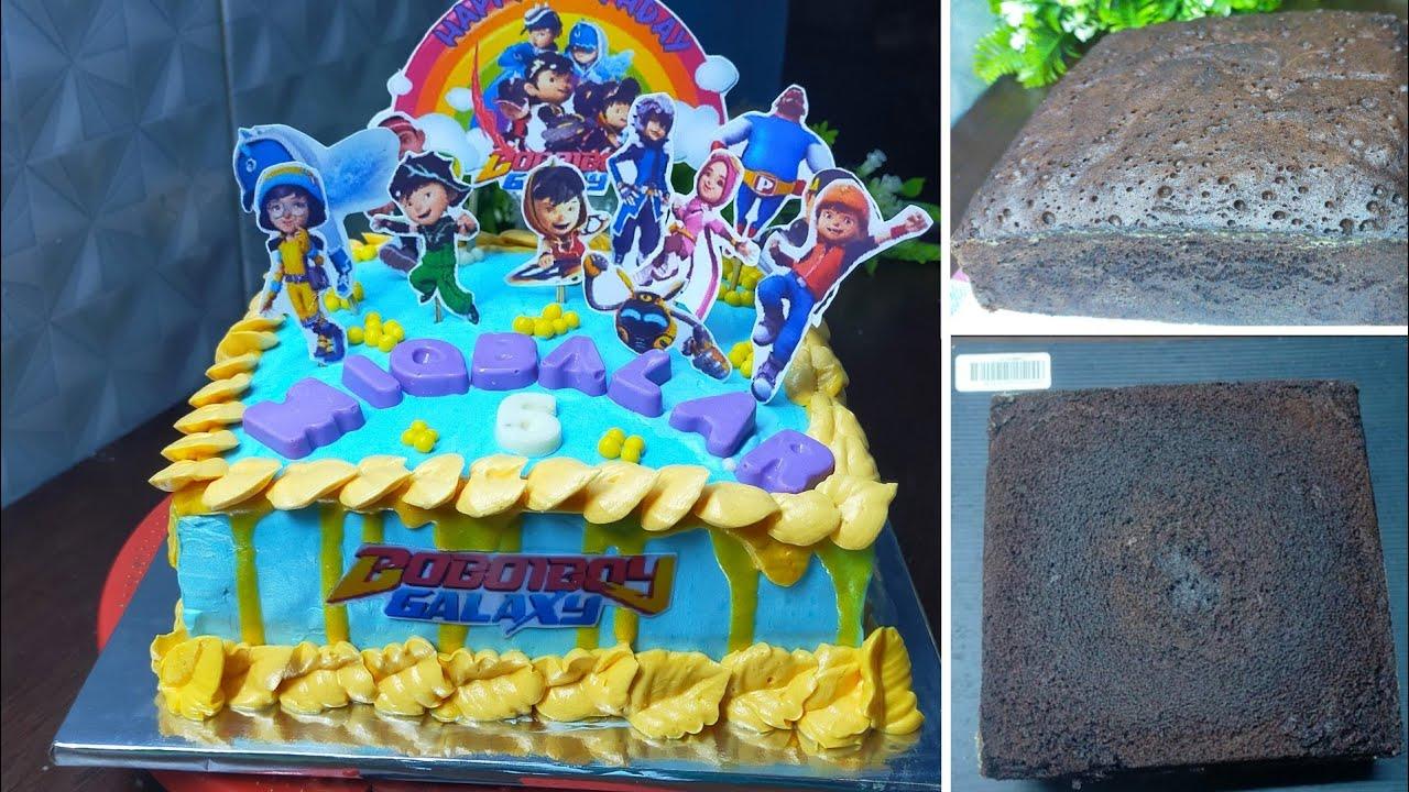 BASE CAKE ULTAH SUPER NYOKLAT dan LEMBUT - Menghias Kue Tanpa Spluit