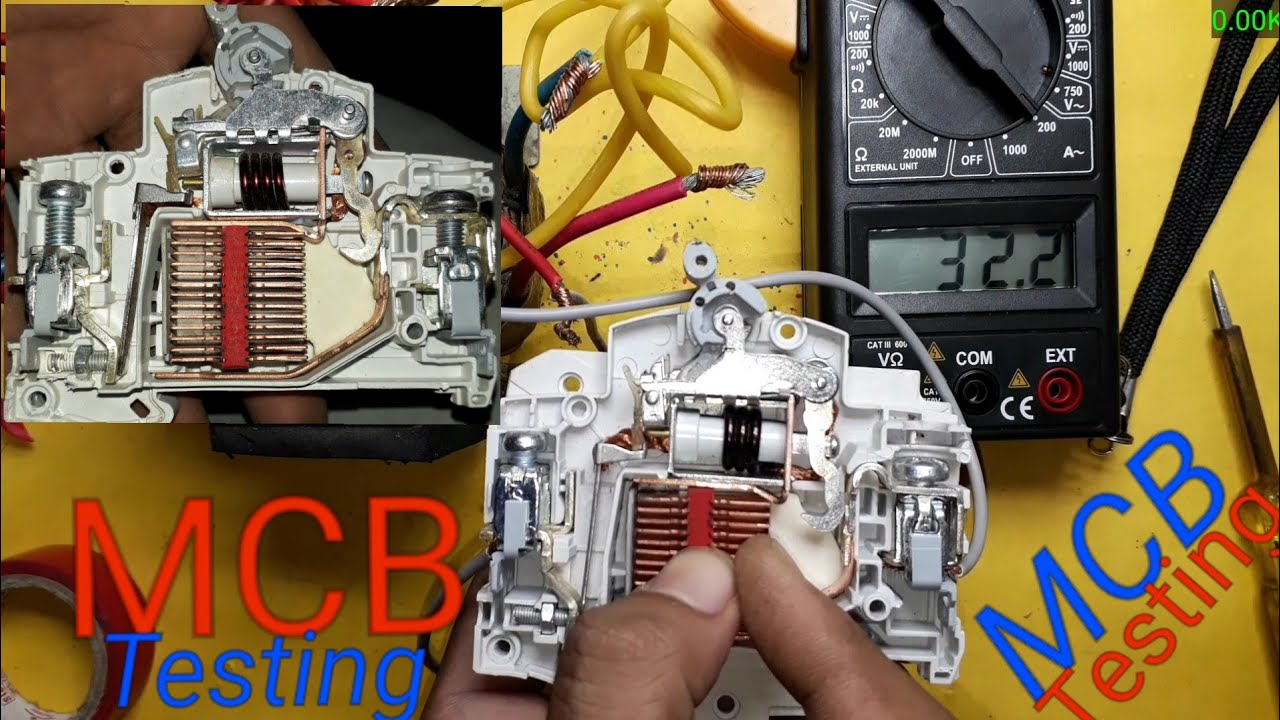 Mcbminiature Circuit Breaker Internal Structure And Testing On Working Of Mcb Miniature How Works Load