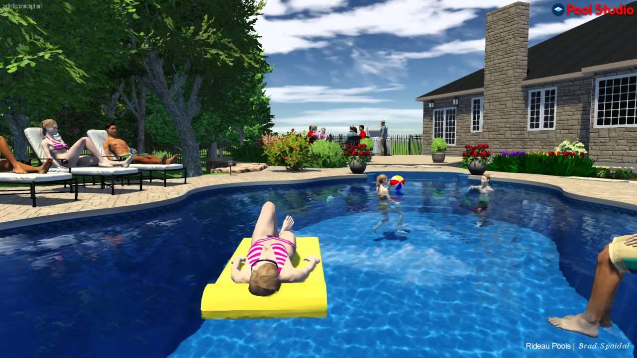 18 x 36 lagoon shaped pool by rideau pools ottawa youtube for Pool design ottawa
