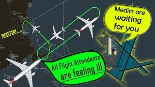 [REAL ATC] American A333 | ALL FLIGHT ATTENDANTS SICK in flight!