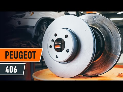 How to replace front brake discs and brake pads PEUGEOT 406 TUTORIAL | AUTODOC