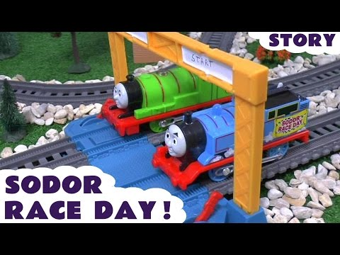 Thomas and Friends Sodor Race Day Play Doh Signals Trackmaster Toy Train Set Juguetes De Thomas