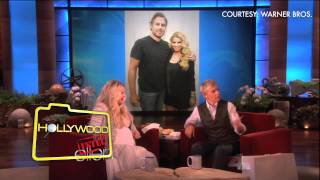 Pregnant Jessica Simpson on Ellen at Hollywoodintel.com, Hollywood intel