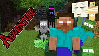 Monster School : ADVENTURE TIME - Minecraft Animation