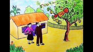 Vẽ tranh minh họa truyện cổ tích: Cây Khế