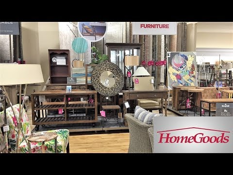 HOME GOODS FURNITURE ARMCHAIRS TABLES SOFAS - SHOP WITH ME SHOPPING STORE WALK THROUGH 4K