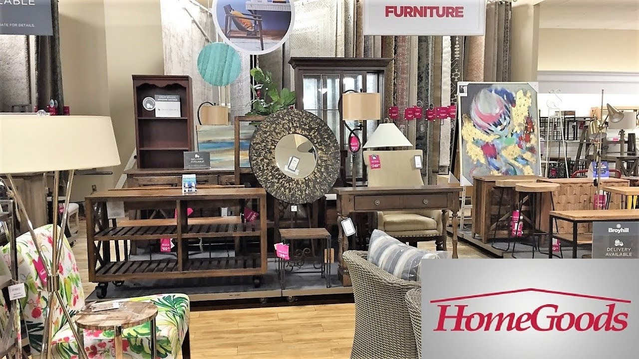 HOME GOODS FURNITURE ARMCHAIRS TABLES SOFAS - SHOP WITH ME SHOPPING STORE  WALK THROUGH 15K