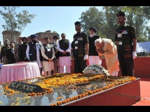 PM Modi visits National Martyrs Memorial at Hussainiwala village in Firozpur, Punjab
