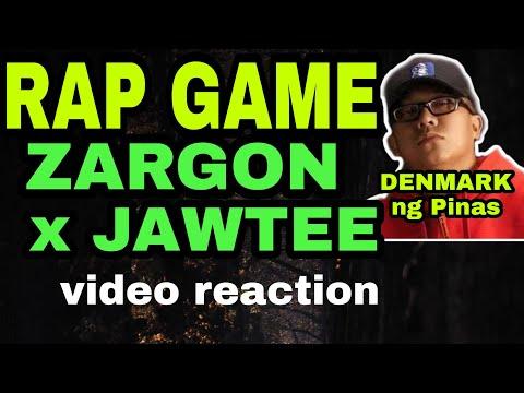 RAP GAME by ZARGON X JAWTEE / video reaction / DENMARK ng Pinas / hip hop / rap / diss