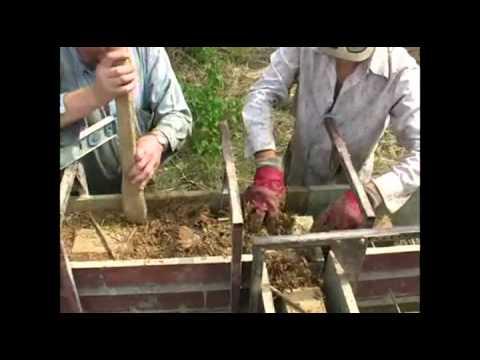 видео: Строительство домов из монолитного самана.