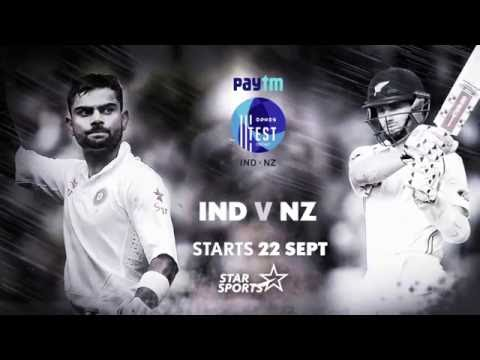 Action-packed cricket all day - India vs New Zealand Test series!