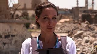 Angelina Jolie visits war-torn Mosul one year after its liberation from ISIS