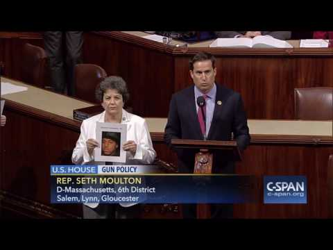 U.S.  House gaveled out of session as Rep. Moulton reads names of mass shooting victims (C-SPAN)