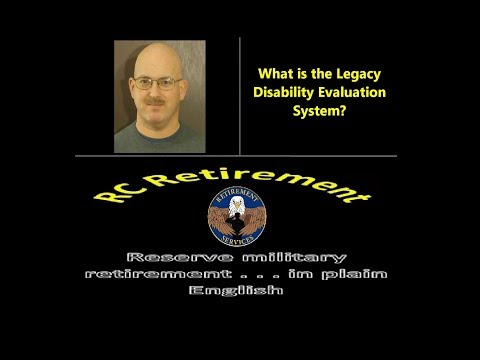 Episode 0097 - What Is The Legacy Disability Evaluation System?