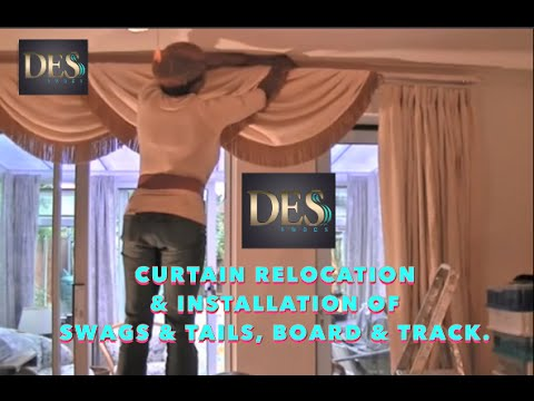 Curtain Relocation And Installation Of Swags Tails Plus Board Track