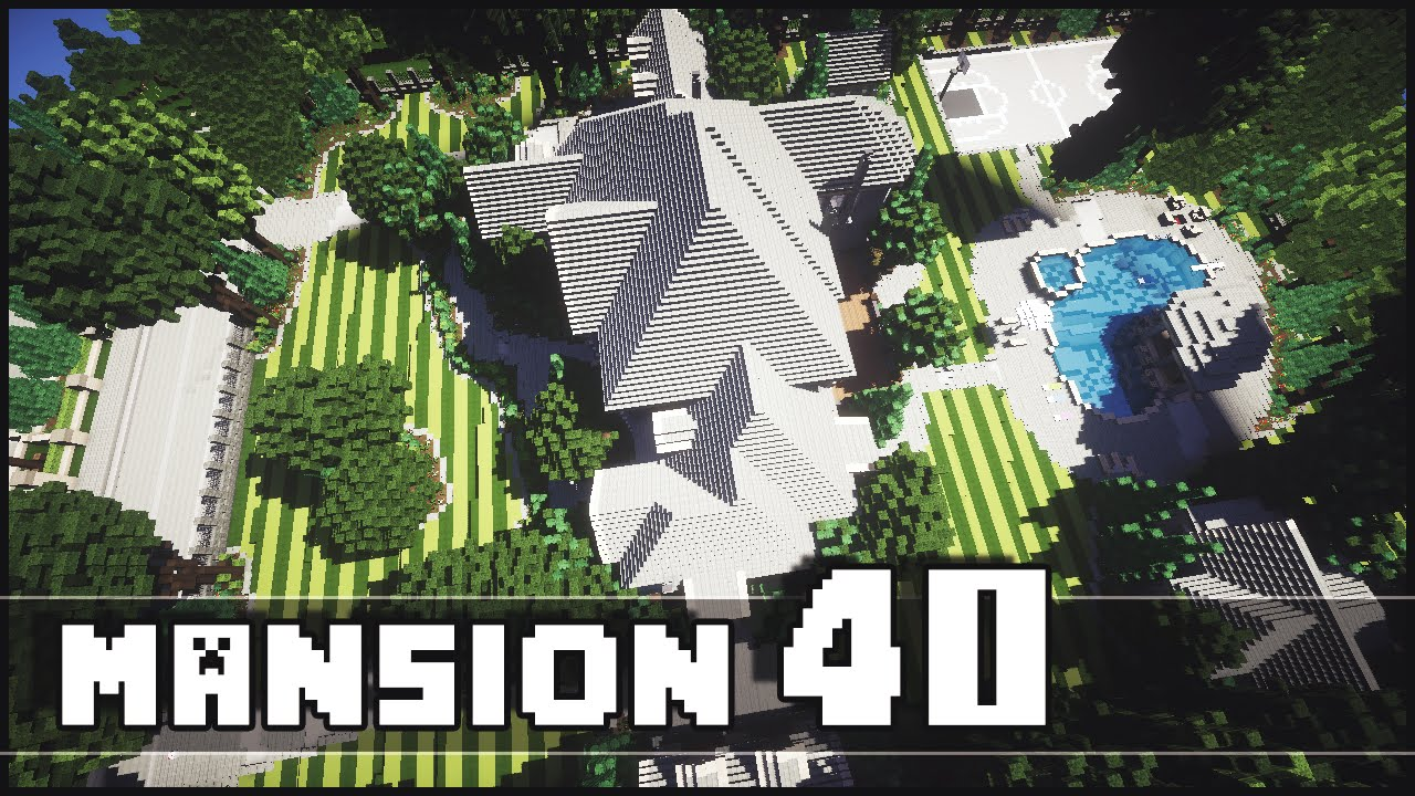 minecraft - mansion 40 epic landscaping