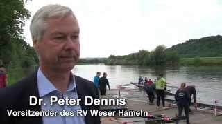 Zwei Bootstaufen an der Weser
