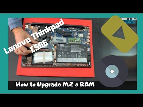 Lenovo ThinkPad E595 How To Upgrade M.2 Pcie Nvme SSD RAM Disassembly