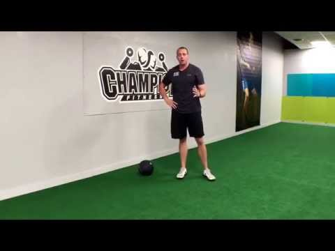 Side to Side Medicine Ball Slam