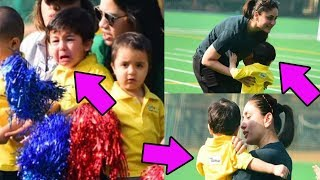 Taimur Ali Khan crying in front of mom Kareena when he lost the second race