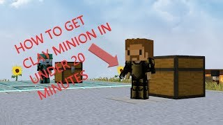 How to get clay minion in under 20 MINUTES (With collection)
