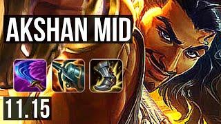 AKSHAN vs LEBLANC (MID) | Rank 10, 3/1/3 | JP Challenger | v11.15