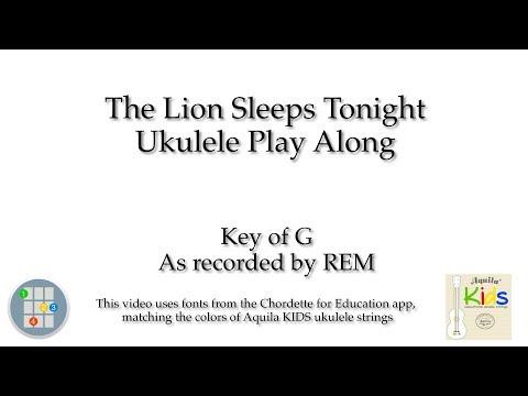 The Lion Sleeps Tonight Ukulele Play Along