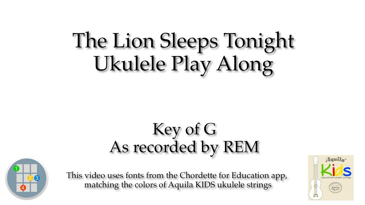The lion sleeps tonight ukulele play along youtube hexwebz Image collections