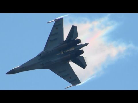 MAKS 2015 Su-35 Spectacular Demo  Russian Air Force