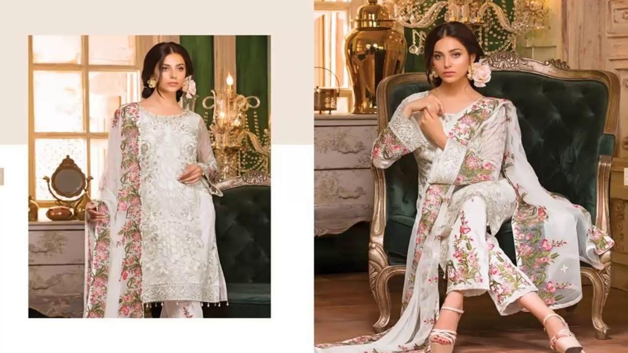 339b1606e1 Ramsha Rangoon Embroidered Chiffon Collection 2018 - YouTube