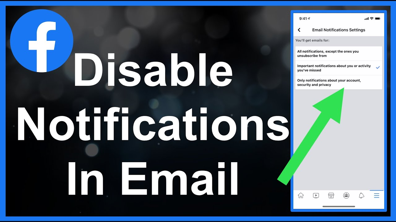 How To Disable/Block Facebook Notifications In Email (EASY!)