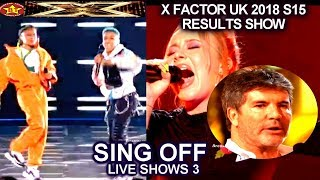 Molly Scott vs Acacia & Aaliyah SING OFF & RESULTS  SIMON ASKS RECOUNT Live Shows 3 X Factor UK 2018