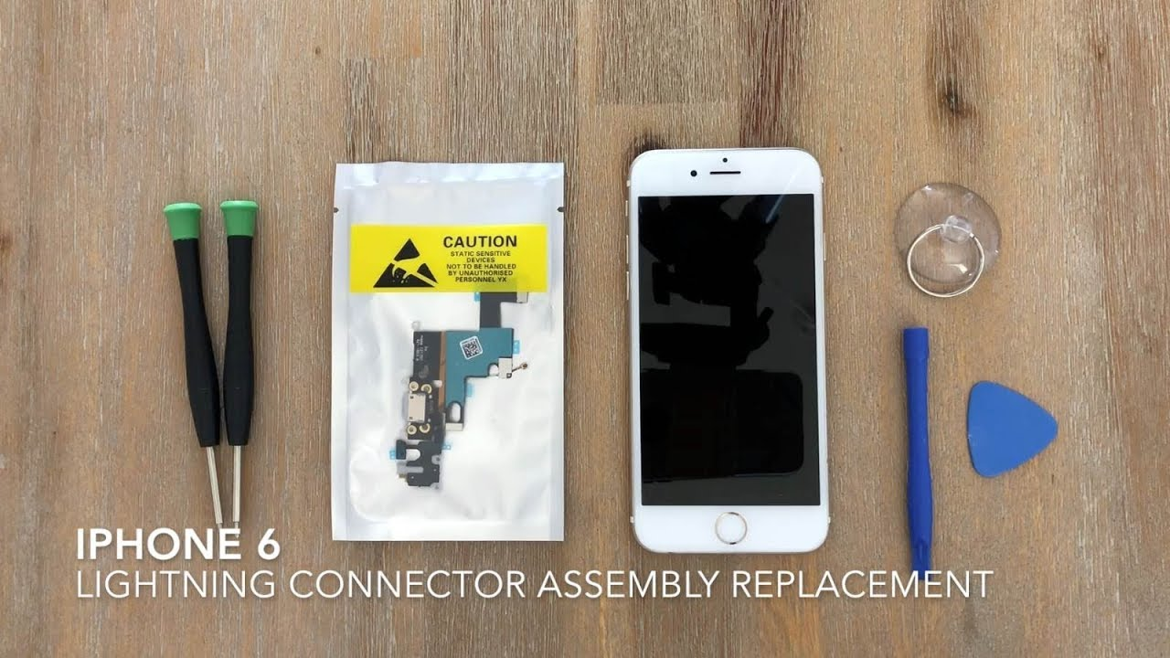 huge selection of 02269 a6739 iPhone 6 Lightning Charger Port Assembly Replacement