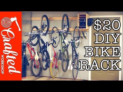 Diy wall hanging bike racks