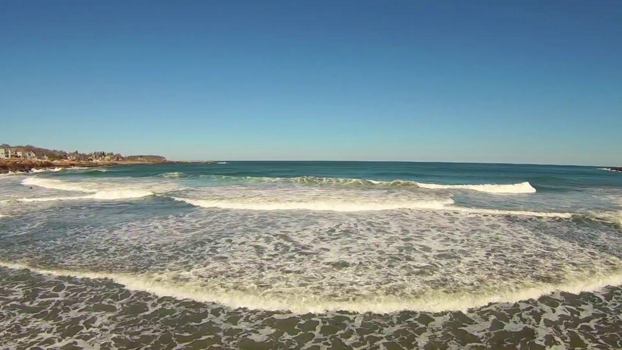 Vangelis Aquatic Dance Drone Flight Over Short Sands Beach York Maine