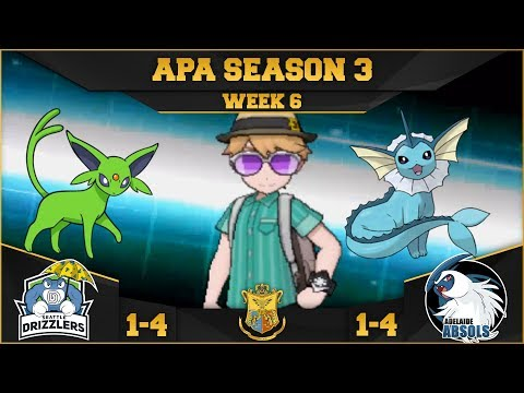 WATER WALL! Seattle Drizzlers vs. Adelaide Absols- APA S3 W6 Deathly vs. Curt the Buzzwole
