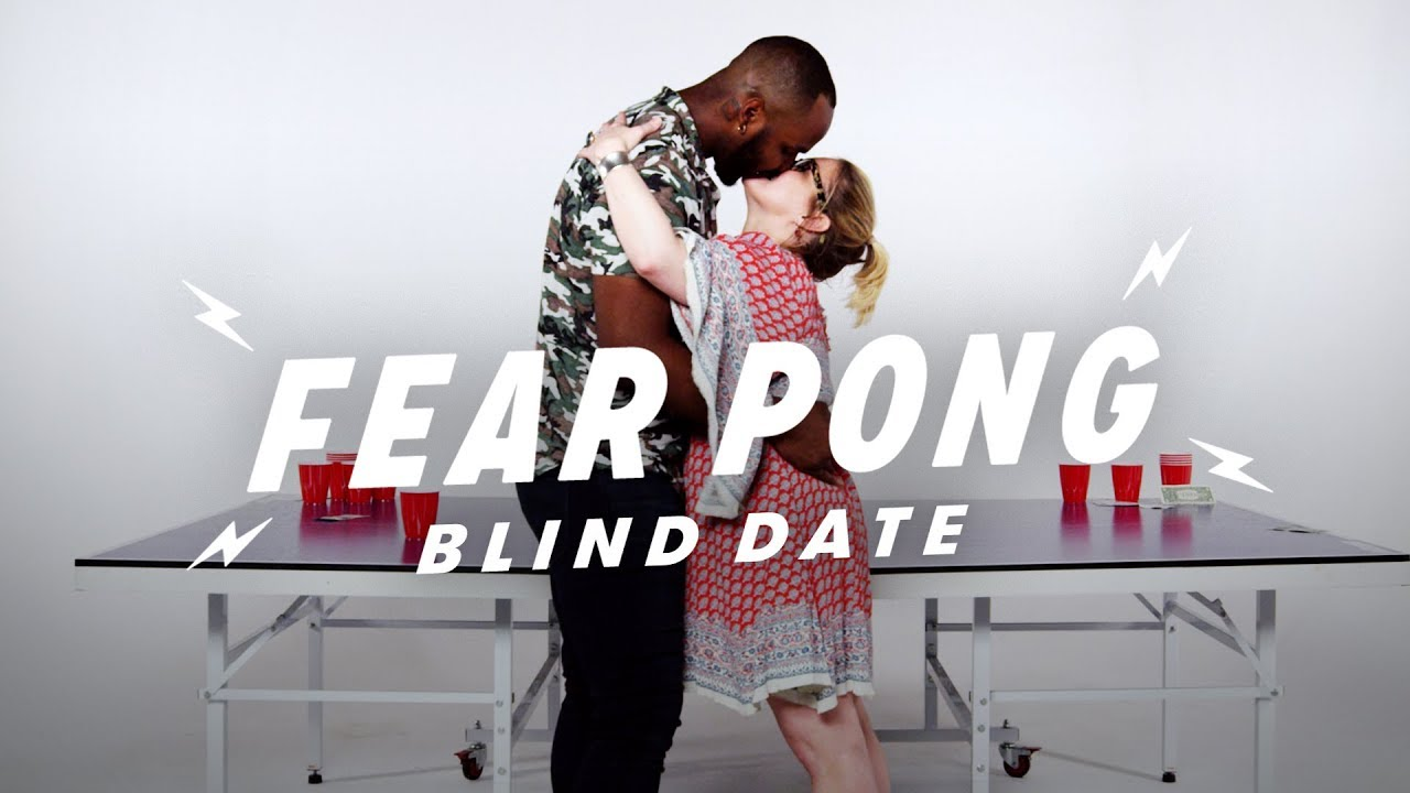 Blind Dates Play Fear Pong (Jim & Sarah)   Fear Pong   Cut