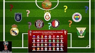 Dünya Kupası Bulmacası - Ülkeleri Takımlarından Bulmaya Çalış - 2018 FIFA Dünya Kupası