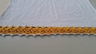 Como Fazer Bico de Crochê Para Pano de Prato
