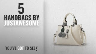 Top 10 Justawesome Handbags 2018 JustAwesome by SBMRetail PU Leather Handbag for Women White