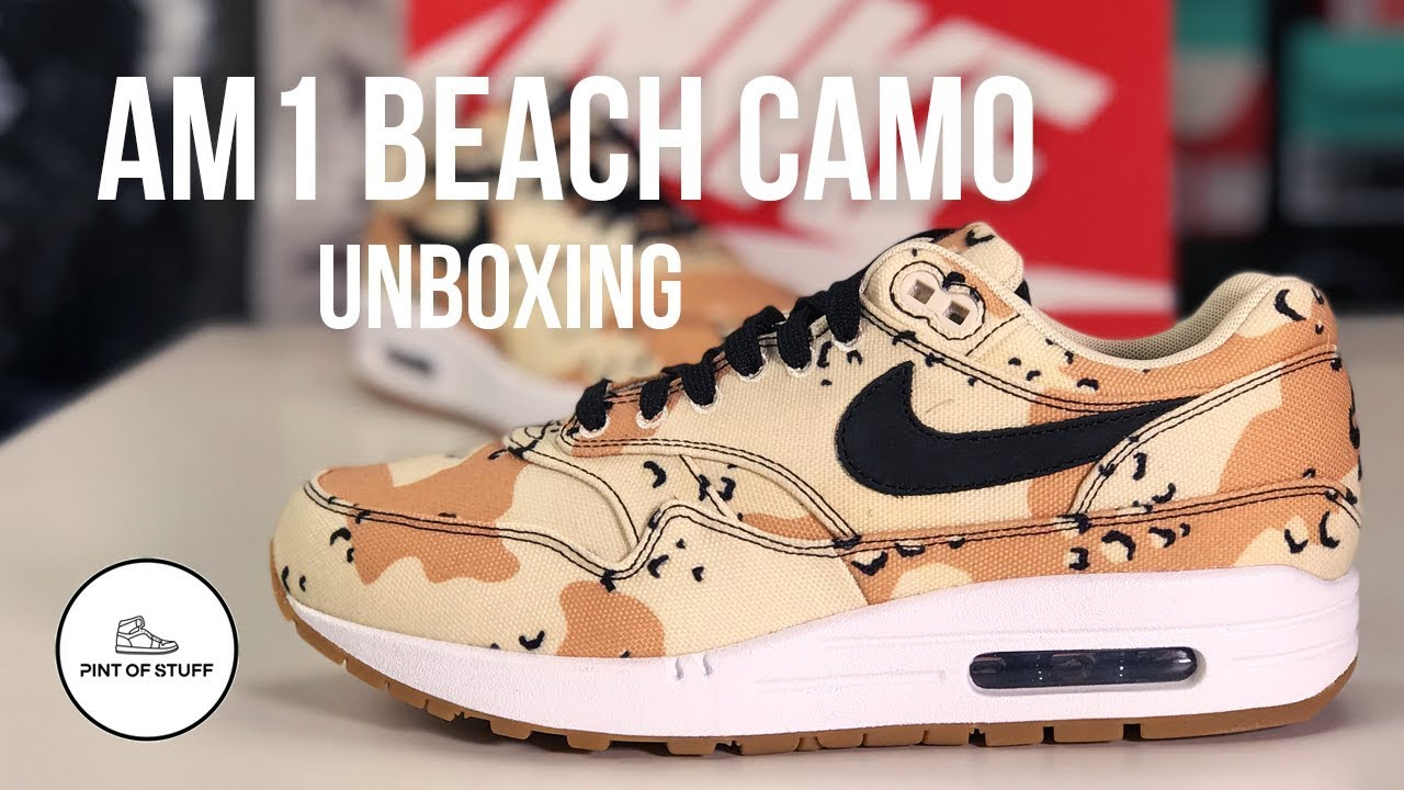 Nike Air Max 1 Beach Camo Sneaker Unboxing with SJ