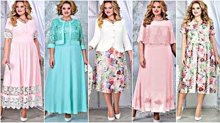 Сумасшедшей КРАСОТЫ женские платья НОВИНКИ 2021 Unreal beauty elegant dresses for full woman