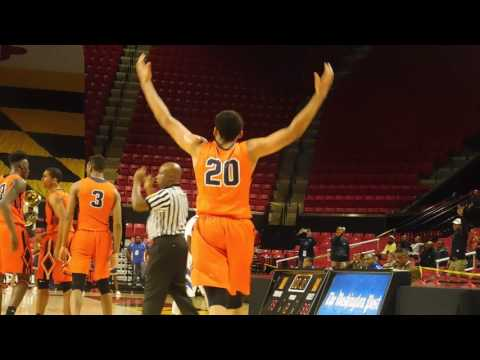 Horton 3-pointer Poly/Stephen Decatur boys basketball 3A state semifinal 03/09/17