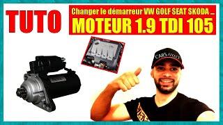 Tuto : changer le démarreur d'une vw golf 5 moteur  105 tdi momo tuto