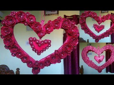 DIY: Paper heart showpiece    How to make paper heart showpiece.