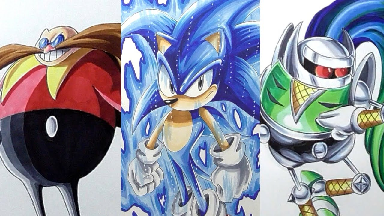 It is a photo of Epic Drawing Sonic Characters